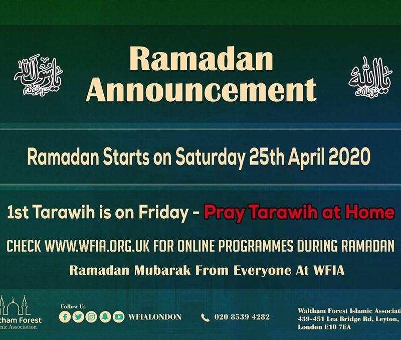 Ramadan 1441 AH / 2020 Announcement