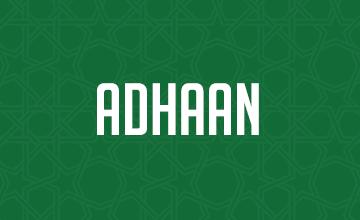 Adhaan Donation