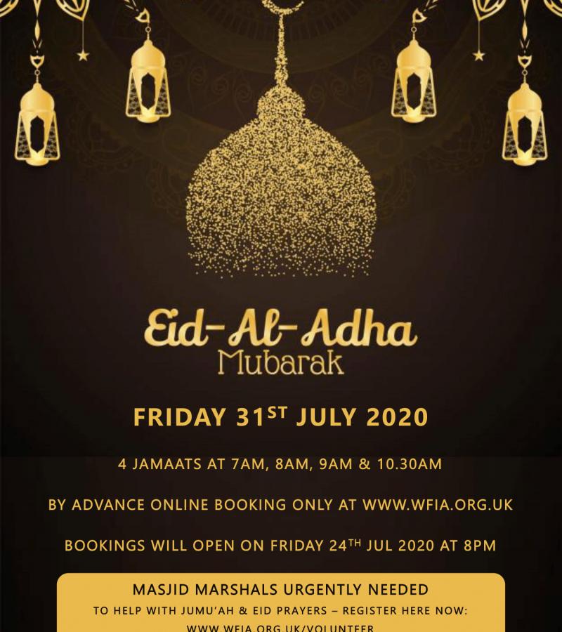 Eid Al Adha Confirmation