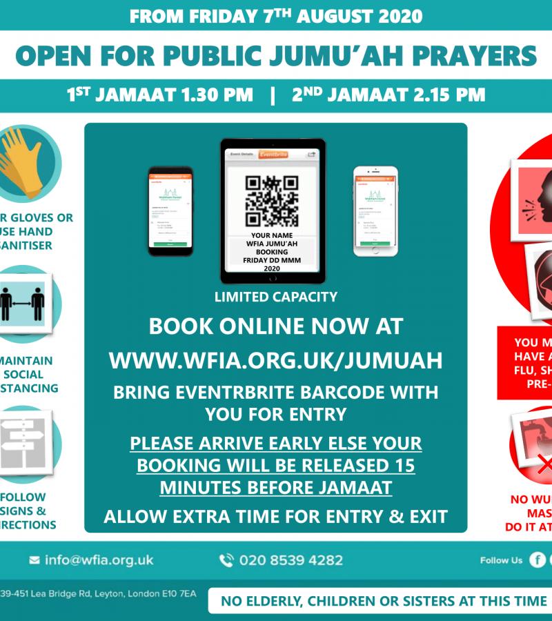 Masjid Re-opens for Jumu'ah Prayers