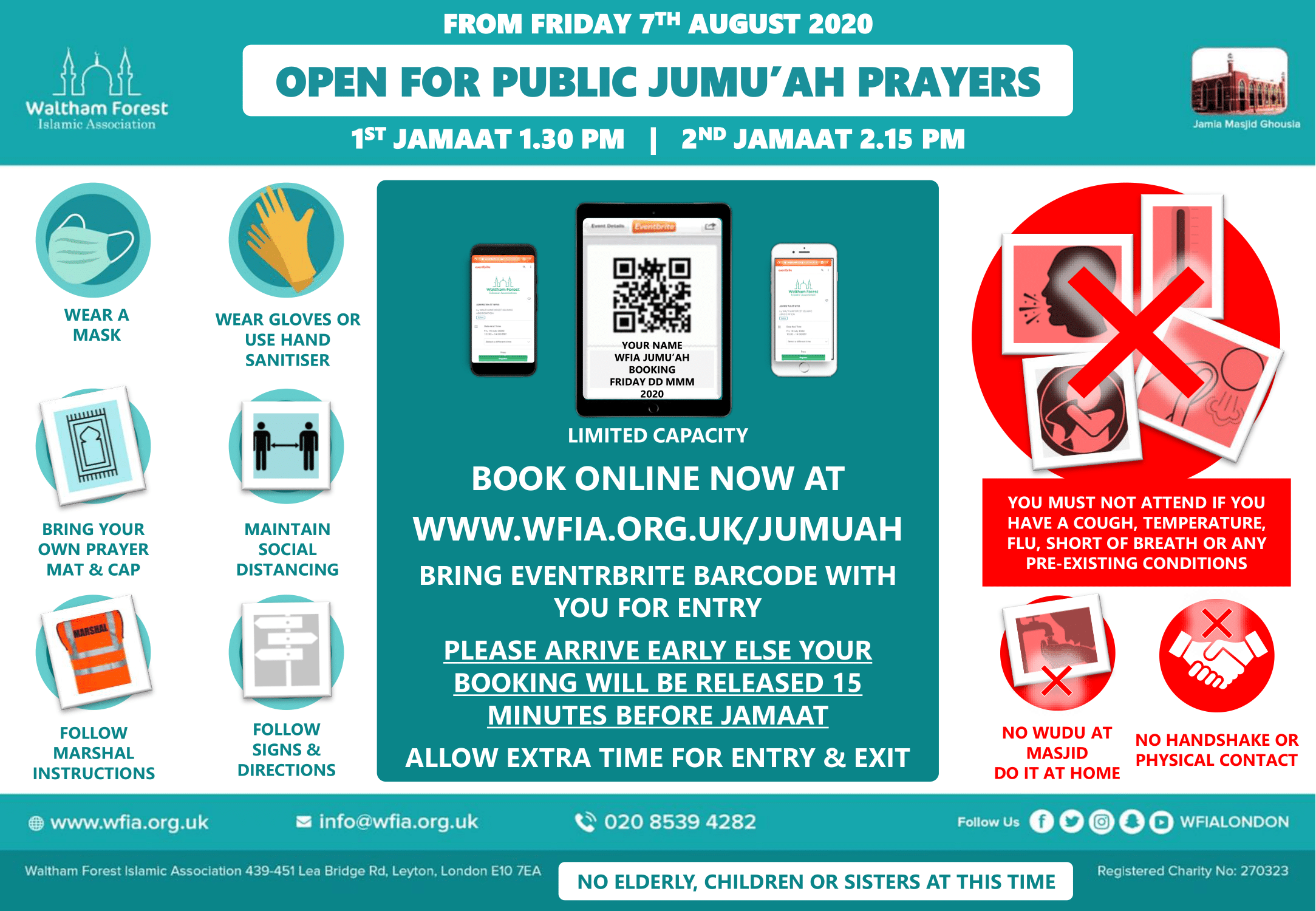Masjid Re-opens for Jumu'ah Prayers