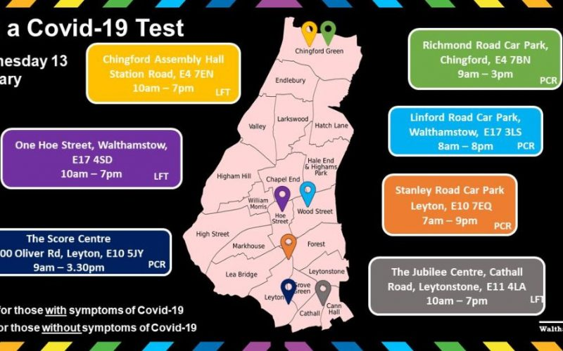 Get a Covid-19 Test in Waltham Forest