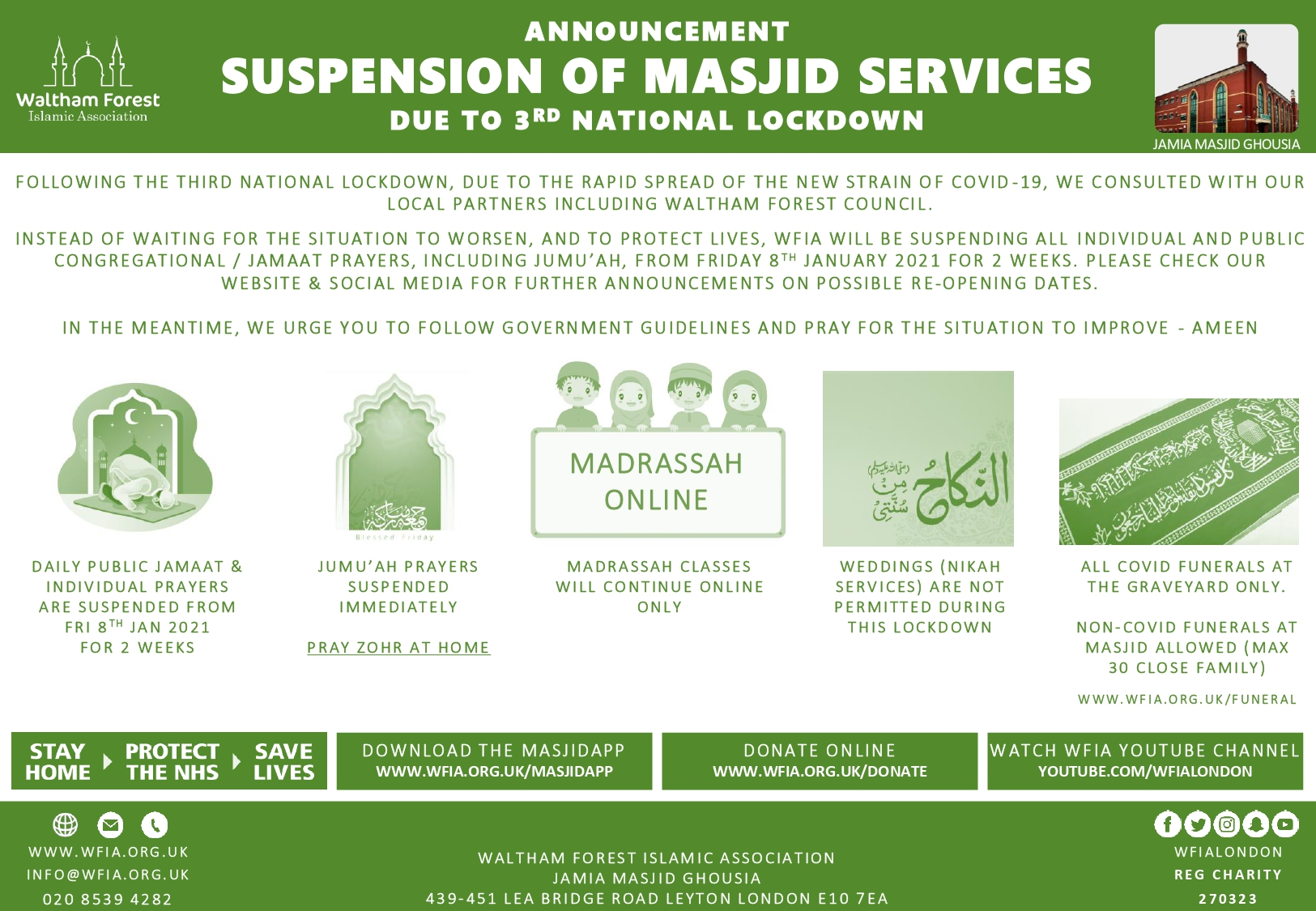 Suspension of Masjid Services Due to Lockdown3