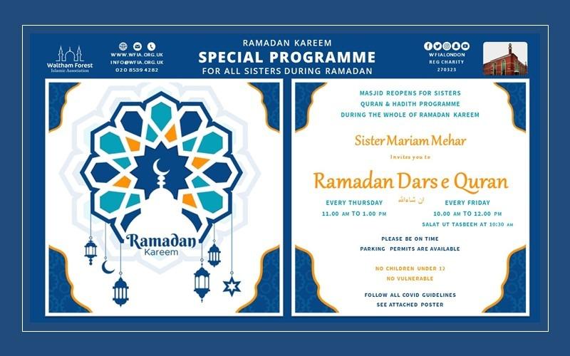 Ramadan Dars e Quran Programme for Sisters